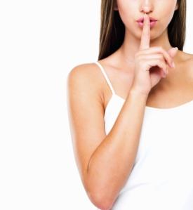 Woman Shhhh