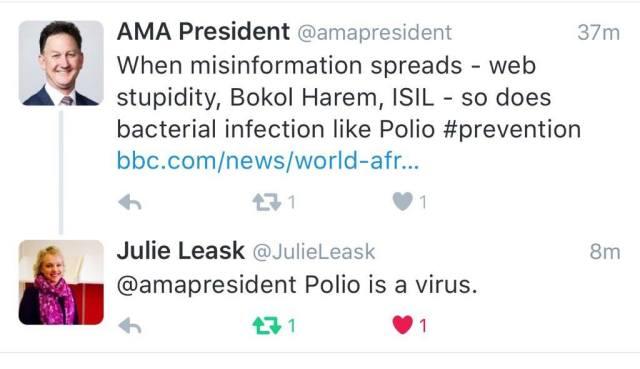 AMA and Polio